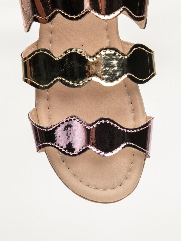 9S6928Z4 Kız Çocuk Parlak Bantlı Sandalet