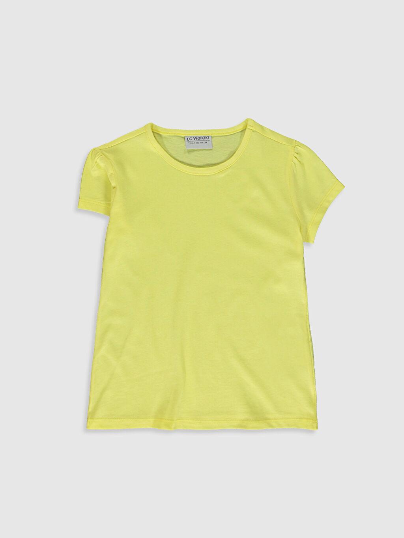 Sarı Kız Çocuk Pamuklu Basic Tişört 0S2543Z4 LC Waikiki