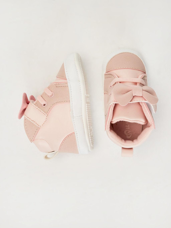 Pembe Kız Bebek Fiyonk Detaylı Yürüme Öncesi Ayakkabı 0S3042Z1 LC Waikiki