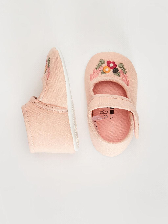 Işıksız Pamuk Astar Yürümeyen Cırt Cırt Kız Bebek Pamuk Astarlı Yürüme Öncesi Ayakkabı