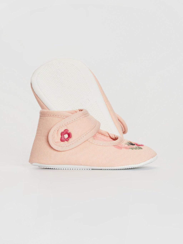 Pembe Kız Bebek Pamuk Astarlı Yürüme Öncesi Ayakkabı