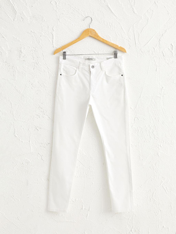 Beyaz Dar Kalıp Gabardin Chino Pantolon 0S4766Z8 LC Waikiki