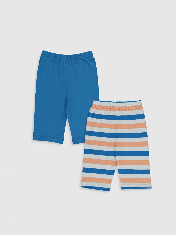 %100 Pamuk Süprem Pijama Alt %100 Pamuk Diz Altı Erkek Bebek Pijama Alt 2'Li