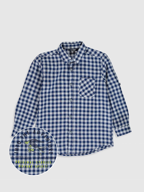 Lacivert Erkek Çocuk Ekose Gömlek 0S5131Z4 LC Waikiki
