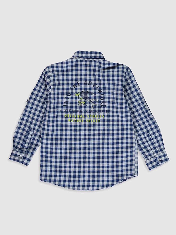 %100 Pamuk Erkek Çocuk Ekose Gömlek
