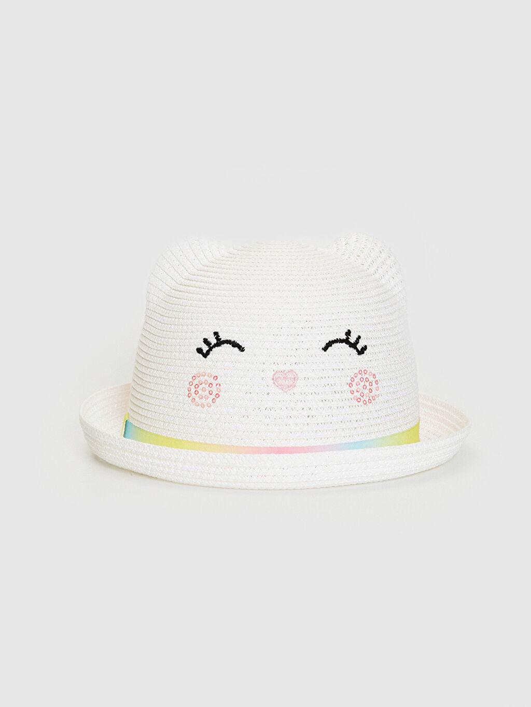 Bej Kız Çocuk Hasır Fötr Şapka 0S6505Z4 LC Waikiki