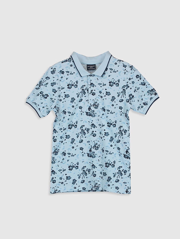 Mavi Aile Koleksiyonu Erkek Çocuk Baskılı Polo Yaka Tişört 0S8436Z4 LC Waikiki