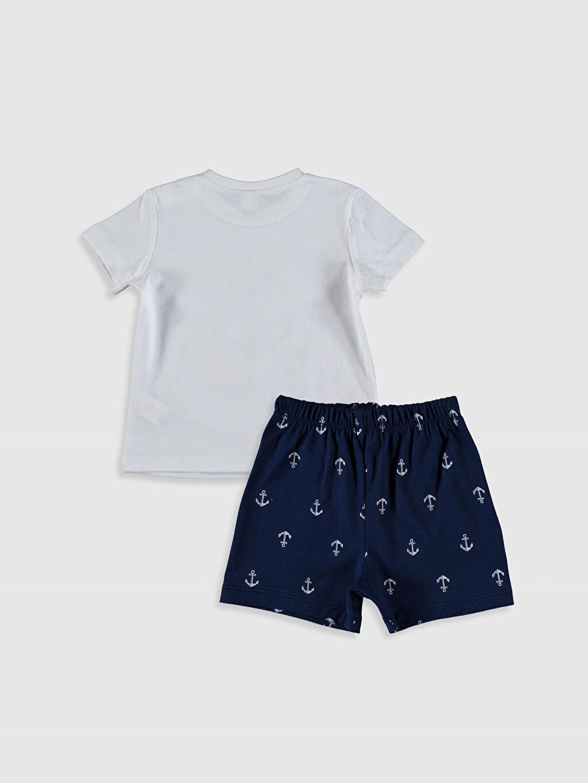 0S9767Z1 Erkek Bebek Baskılı Pamuklu Pijama Takımı