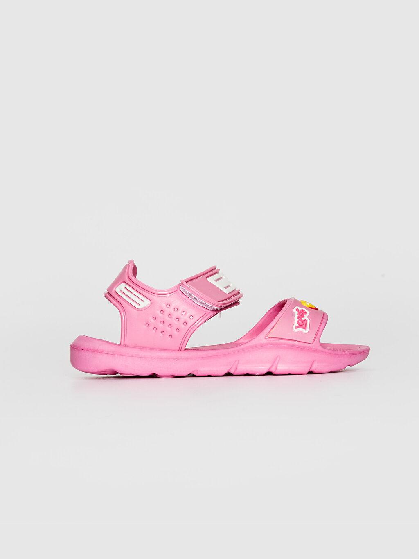 %0 Diğer malzeme (eva) Cırt Cırt EVA Astar Işıksız Sandalet Kız Çocuk Cırt Cırtlı Sandalet