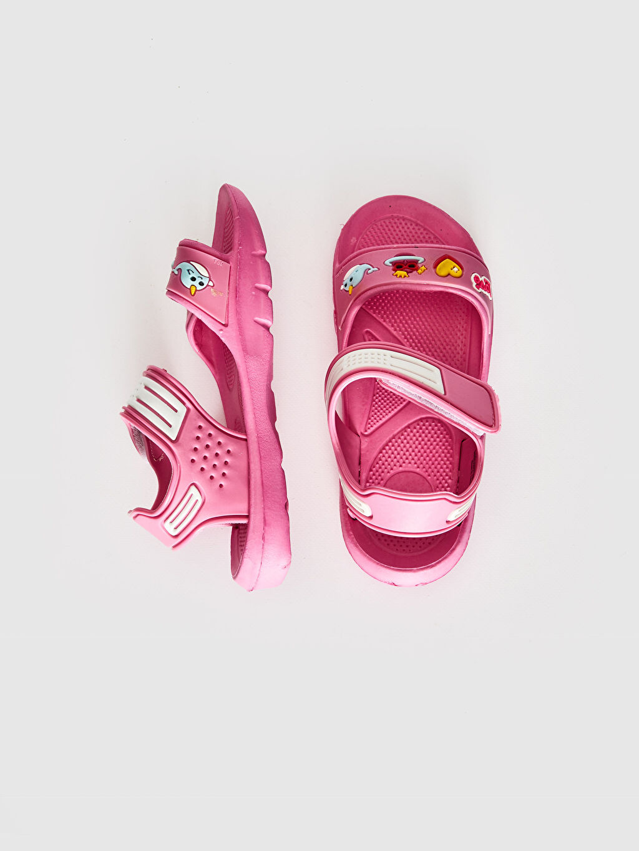 Kız Çocuk Kız Çocuk Cırt Cırtlı Sandalet