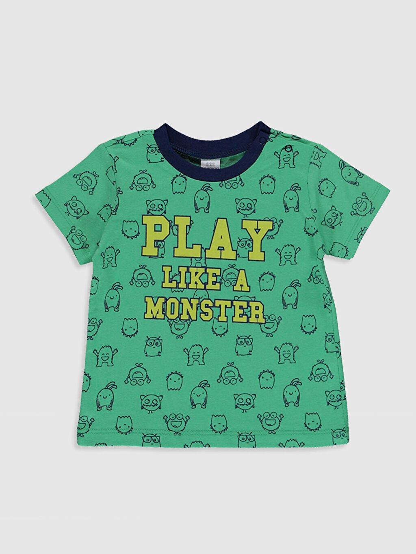 Erkek Bebek Erkek Bebek Baskılı Pamuklu Pijama Takımı 3'lü