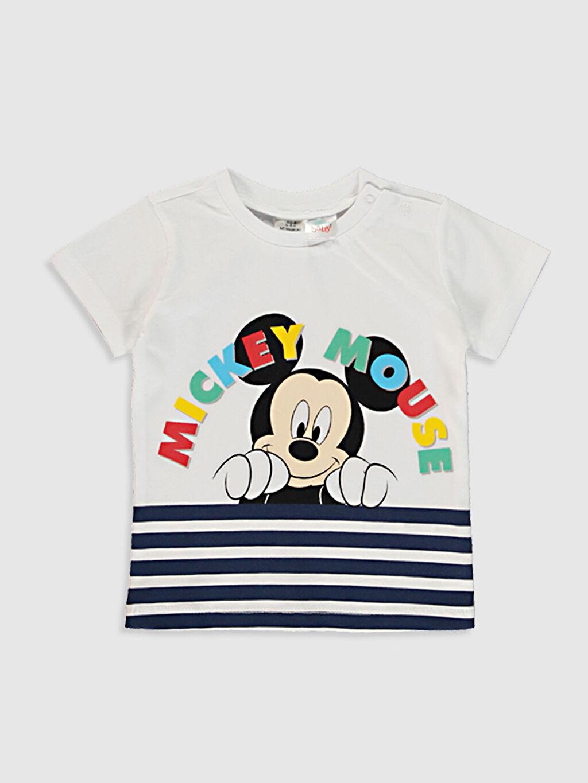 Erkek Bebek Erkek Bebek Mickey Mouse Baskılı Pijama Takımı