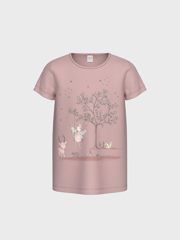 %100 Pamuk Kısa Kol Standart Pijama Takım Kız Çocuk Organik Pamuklu Pijama Takımı