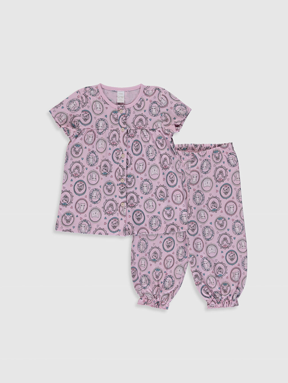 Pembe Kız Çocuk Organik Pamuklu Pijama Takımı 0SI922Z4 LC Waikiki