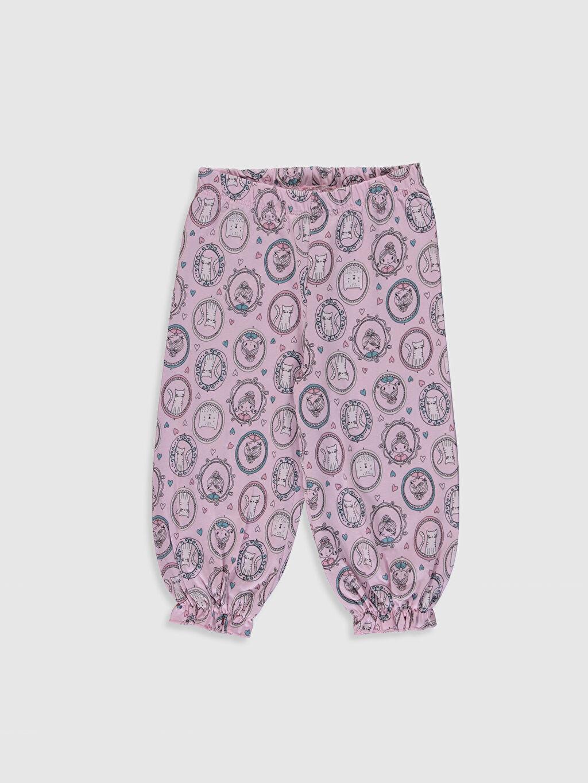 %100 Pamuk Kız Çocuk Organik Pamuklu Pijama Takımı