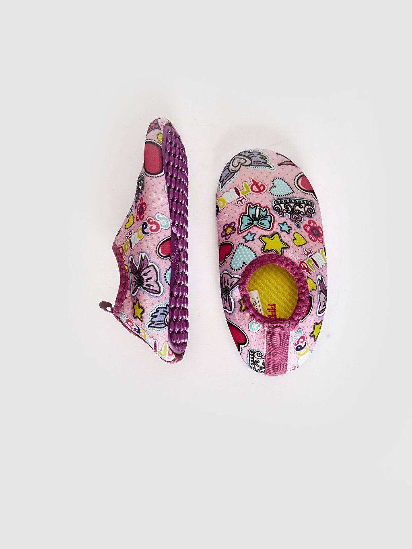 %0 Tekstil malzemeleri (%100 poliester) Polyester Astar Işıksız Sandalet Kız bebek Baskılı Deniz Ayakkabısı