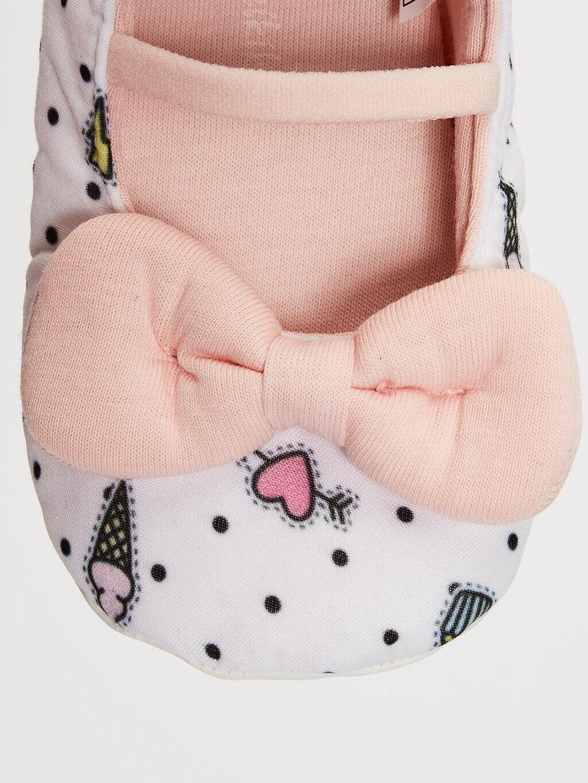 0SM392Z1 Kız Bebek Fiyonk Detaylı Yürüme Öncesi Ayakkabı