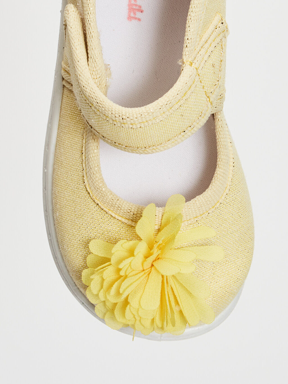 0SN074Z1 Kız Bebek Cırt Cırtlı Bez Babet Ayakkabı