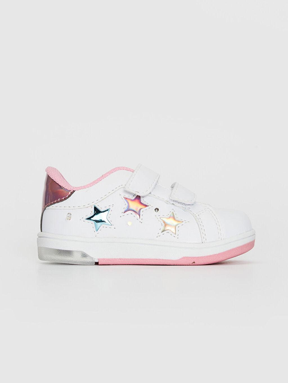 %0 Diğer malzeme (poliüretan) Sneaker Polyester Astar Üstü Işıklı Cırt Cırt Kız Bebek İşıklı Spor Ayakkabı