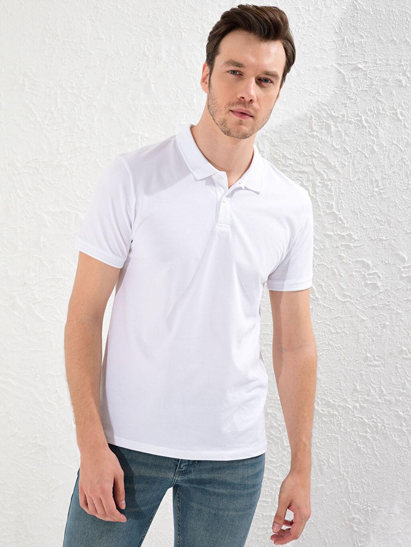 LC Waikiki Beyaz Polo Yaka Basic Tişört