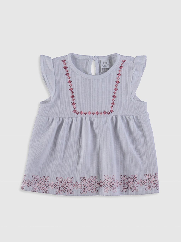 LC Waikiki Ekru Kız Bebek Bluz ve Pantolon