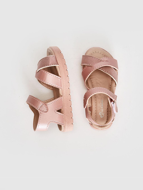 %0 Diğer malzeme (poliüretan)  %0 Diğer malzeme (poliüretan) Cırt Cırt PU Astar Işıksız Sandalet Kız Bebek Çapraz Bant Detaylı Sandalet