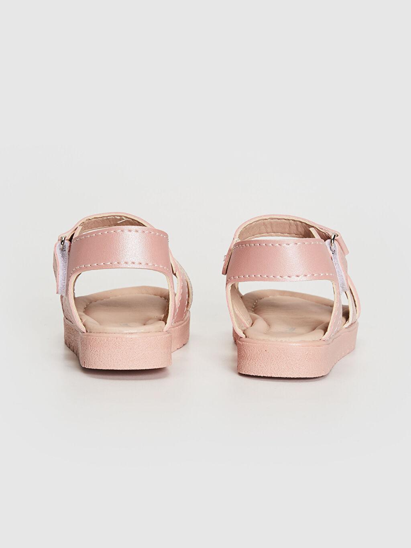 Kız Bebek Çapraz Bant Detaylı Sandalet