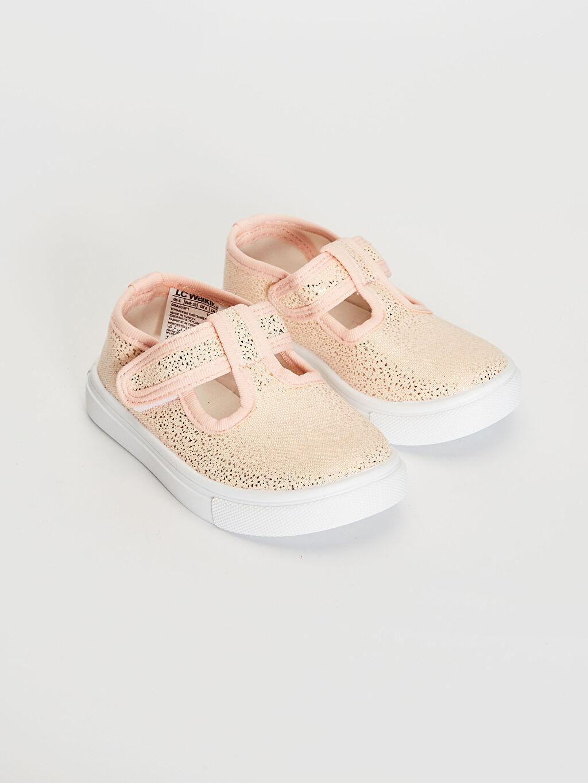 Pembe Kız Bebek Babet Ayakkabı 0SA413Z1 LC Waikiki