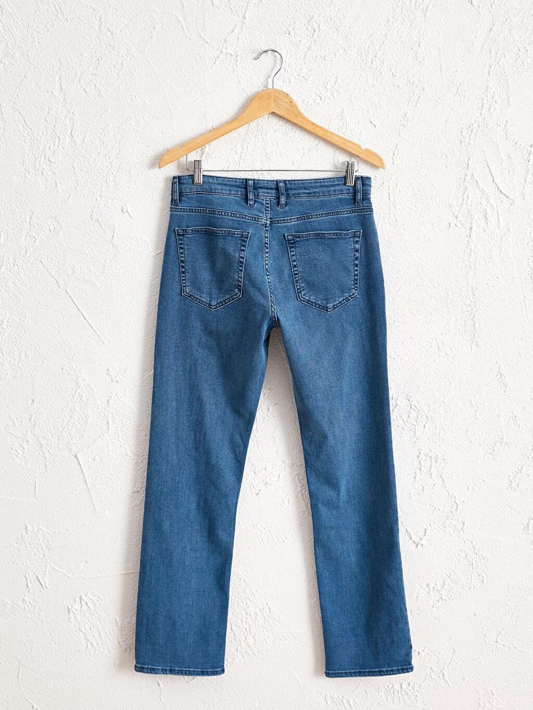 %86 Pamuk %12 Polyester %2 Elastan Bol Jean Düz 790 Rahat Kalıp Jean Pantolon