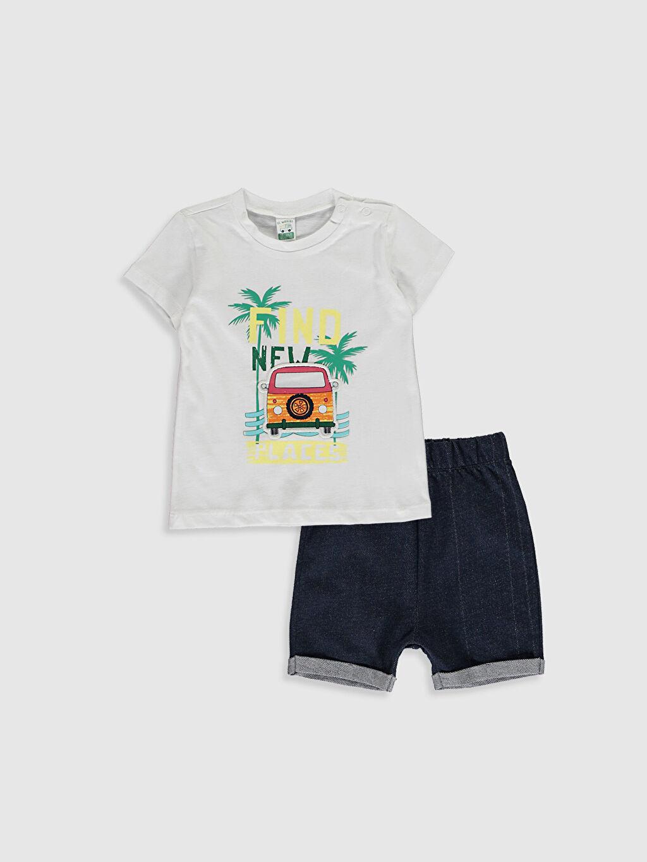 Beyaz Erkek Bebek Takım 2'Li 0SB574Z1 LC Waikiki