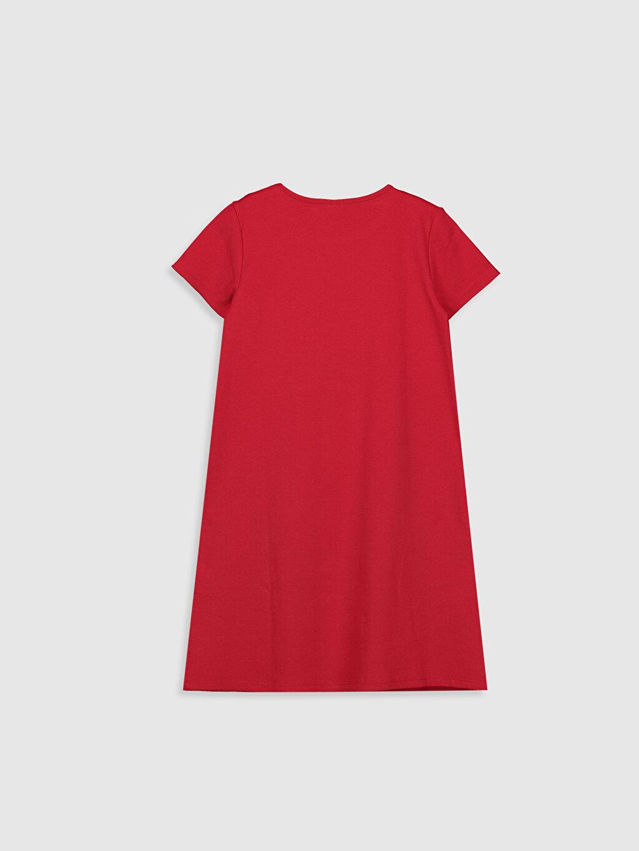 %95 Pamuk %5 Elastan Düz Elbise Kız Çocuk Basic Elbise