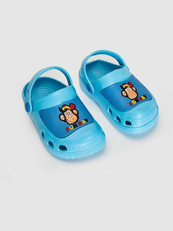 Mavi Erkek Çocuk Nostaljik Maymun Baskılı Sandalet 0SB837Z4 LC Waikiki