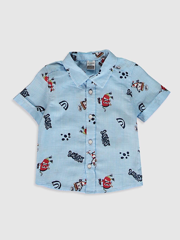 Mavi Erkek Bebek Baskılı Gömlek 0SC493Z1 LC Waikiki