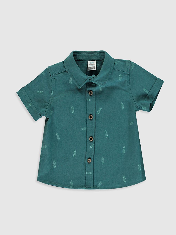 Yeşil Erkek Bebek Baskılı Gömlek 0SC493Z1 LC Waikiki