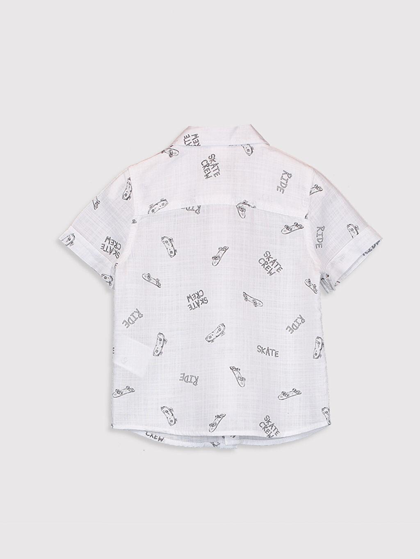 %100 Pamuk Erkek Bebek Baskılı Gömlek