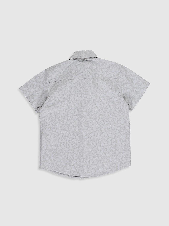 %100 Pamuk Gömlek Standart Kısa Kol Düz Erkek Çocuk Desenli Pamuklu Gömlek