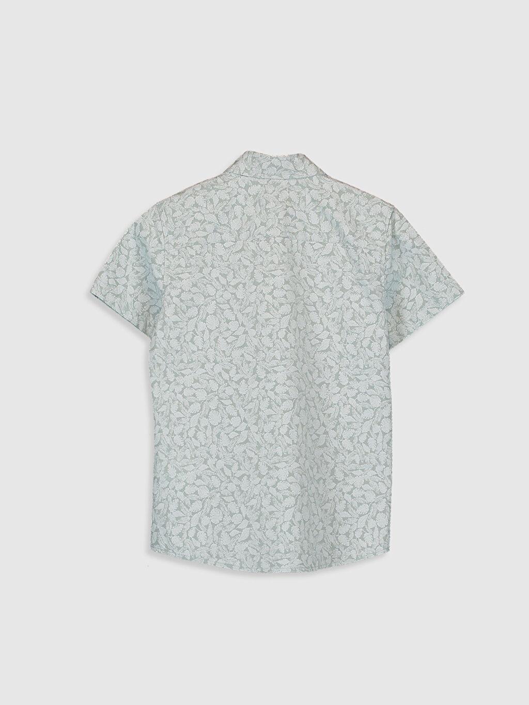 %100 Pamuk Gömlek Standart Kısa Kol Düz Erkek Çocuk Desenli Gömlek