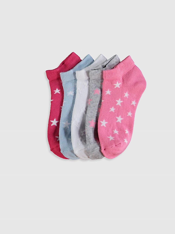 Pembe Kız Çocuk Patik Çorap 5'li 0SC561Z4 LC Waikiki