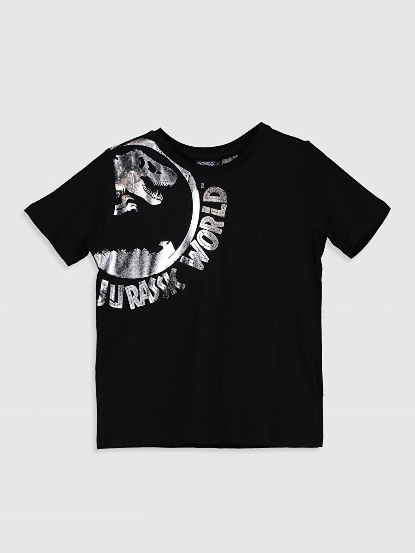 %100 Pamuk %100 Pamuk Standart Jurassic Park Tişört Bisiklet Yaka Kısa Kol Düz Süprem Erkek Çocuk Jurassic World Baskılı Pamuklu Tişört