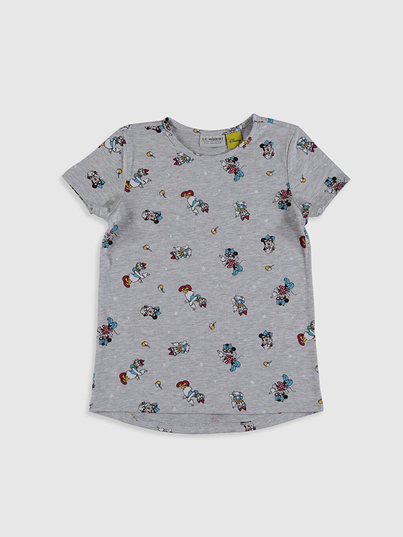 Kız Çocuk Minnie Mouse Baskılı Tişört 3'Lü