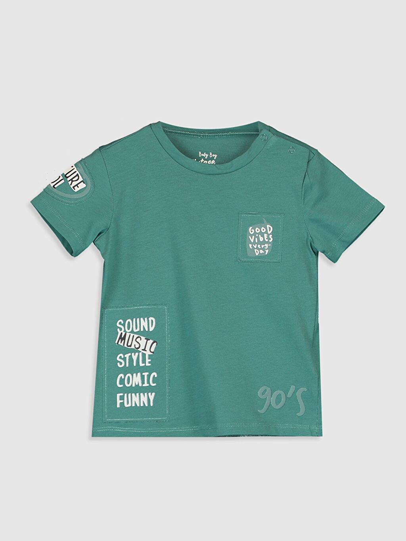 Yeşil Erkek Bebek Baskılı Pamuklu Tişört 0SC962Z1 LC Waikiki