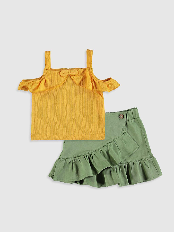 Turuncu Kız Bebek Tişört Ve Etek 0SD008Z1 LC Waikiki