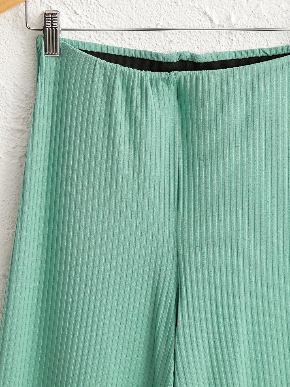 Kadın Beli Lastikli Geniş Paça Esnek Pantolon