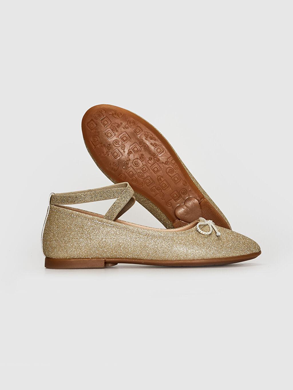 Kız Çocuk Kız Çocuk Simli Şık Babet Ayakkabı