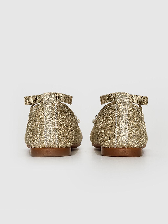 Kız Çocuk Simli Şık Babet Ayakkabı