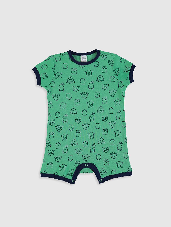 Yeşil Erkek Bebek Baskılı Pamuklu Tulum 0SD747Z1 LC Waikiki