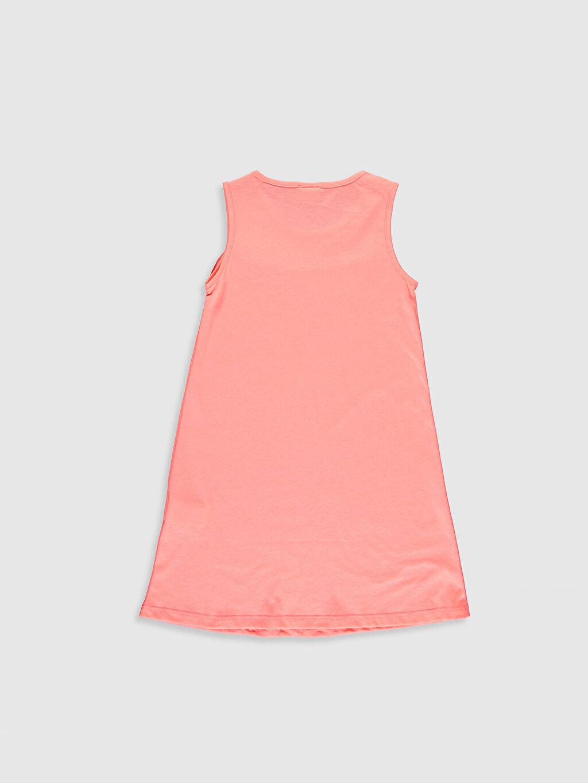 %29 Pamuk %71 Polyester Diz Üstü Bisiklet Yaka Düz Süprem Elbise Kolsuz Kız Çocuk Fırfırlı Pamuklu Elbise