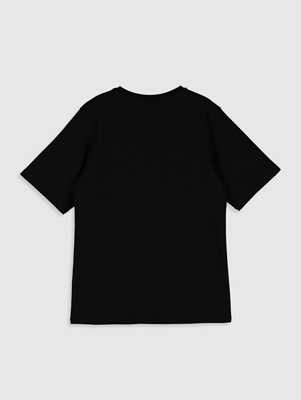 %100 Pamuk Tişört Bisiklet Yaka Kısa Kol Süprem Baskılı Bol Aile Koleksiyonu Erkek Çocuk Yazı Baskılı Pamuklu Tişört
