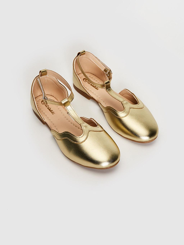 %0 Diğer malzeme (poliüretan) PU Astar Işıksız Babet Tokalı Kız Çocuk Parlak Görünümlü Babet Ayakkabı