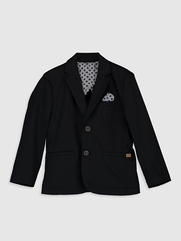 Siyah Erkek Çocuk Blazer Ceket 0SE045Z4 LC Waikiki